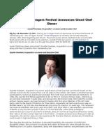 2016 Big Sur Foragers Festival Announces Grand Chef Dinner