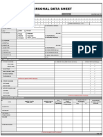 CSC Form 212, Revised 2005 (Personal Data Sheet)
