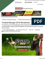 Football Manager 2016 Wonderkids