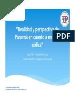 """""""Realidad y perspectiva de Panamá en cuanto a energía eólica"""""""