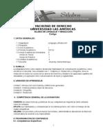 NUEVO SILABO DE LENGUAJE Y REDACCIÓN DE LAS AMERICAS WURBINA.doc