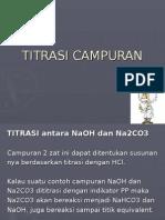 TITRASI CAMPURAN