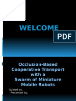 Occlusion-Based Cooperative Transport with a Swarm of Miniature Mobile Robots seminar ppt