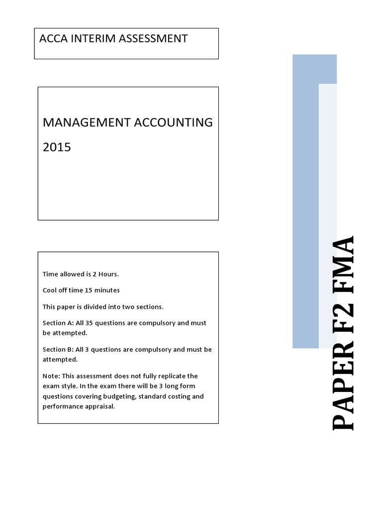 ACCA F2 MCQ DEC 2015 EXAMS   Return On Investment   Inventory