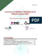 Encuesta en el Distrito Federal (mayo de 2015)