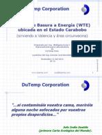 DuTemp WTE Basura Energia Agua Carabobo Valencia Maracay V1