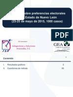 Encuesta en Nuevo León (23-25 de mayo de 2015)