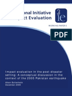 Impact Analysis for Post Earthquake Pakistan