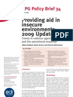 Aid Work in Insecure Enviroment