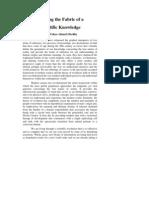 weavingthefabricofa scientificknowledge