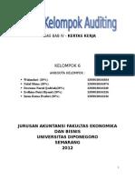 Tugas Auditing Bab 4 - Kertas Kerja
