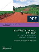 Rural Road Investment Efficiency