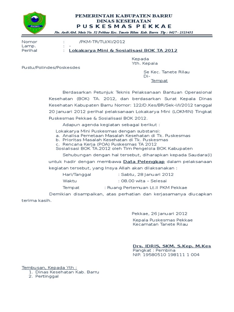 Surat Undangan Lokmin