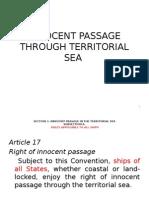 Innocent Passage Through Territorial Sea