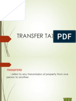 A. Transfer Taxes-For Email