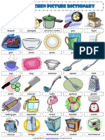 Kitchen Utensils Esl Picture Dictionary Worksheet