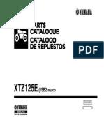 Yamaha XTZ125E Parts Catalogue