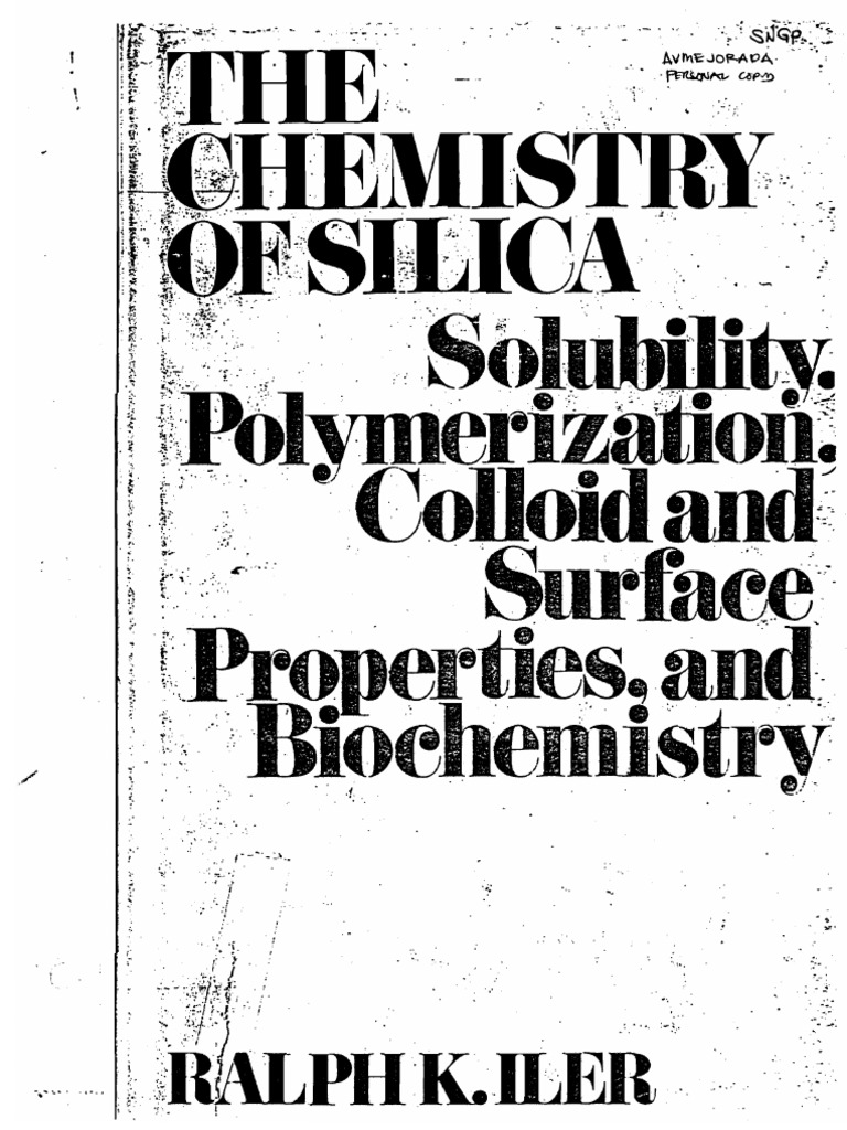 Chemistry of silica ralph iler silicon dioxide properties of water fandeluxe Gallery