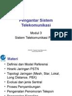 Sistem Telekomunikasi Pstn