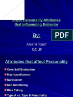 Personality Attributes