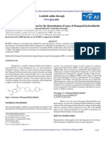 RP-HPLC Method Development for the Determination of Assay of Donepezil Hydro Chloride