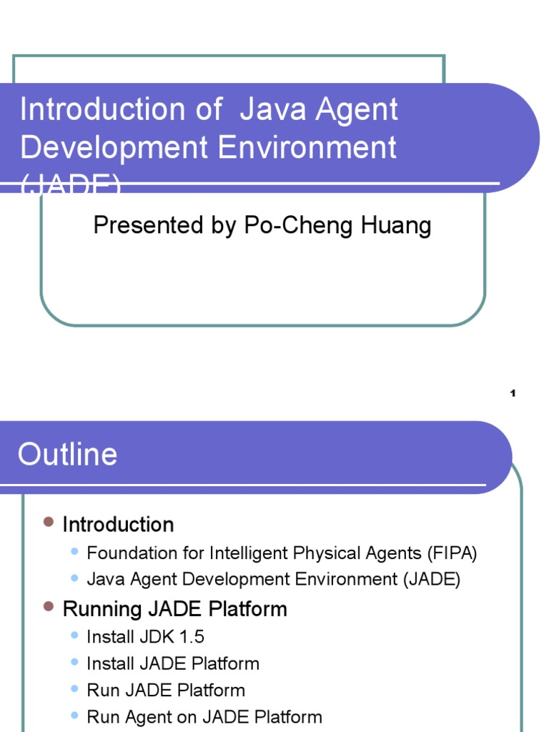 JADE ppt | Java (Programming Language) | Java Platform