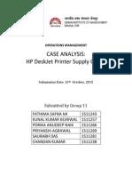 Group11_HP Deskjet Supply Chain
