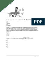 Matemática - Questões 27 - 29
