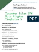 Tasawwur Islam SPM Nota Ringkas Tingkatan 5