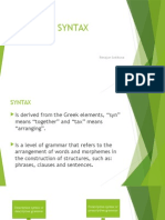 Presentation Language Study-Syntax