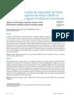 Van Haandel 2015_Influência Projeto Separador de Fases Eficiência No UASB