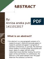 ABSTRACT Annisa Aneka Putri
