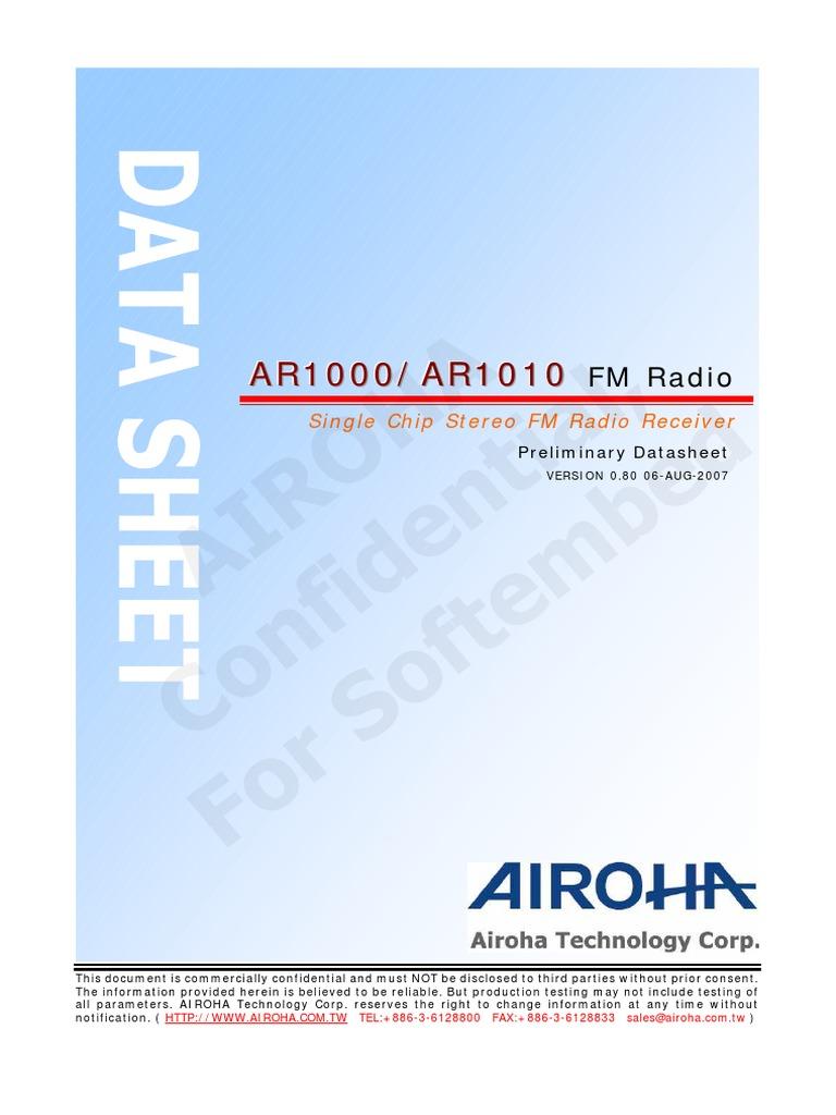 Ar1010 Fm Frequency Modulation Electronic Circuits Simple Demodulator Circuit Diagram Diagrams