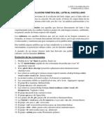 Reglas de Evolución Fonética Del Latín Al Castellano