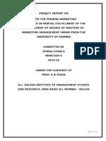 Pharma Company Organizational Structure