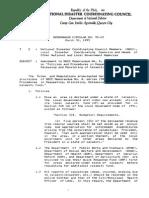NDCC Memo # 95-03 - Series of 1995- Calamity Fund