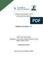 Relatório - Ondas - Circuito RC - Teste Em Laboratório