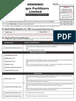 Engro Furtilizer Form