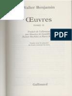 Benjamin, W. - Sur Le Pouvoir d'Imitation (1933)