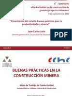 Presentacion Estudio Buenas Practicas Para La Productividad en Mineria Juan Carlos Leon CDT