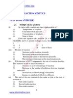 11 Chapter Reaction Kinetics Text Book Exercise