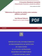 Diferencias en La Gestion de Cambios Entre Contratistas Publicos y Privados Jose Manuel Valencia