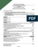 Barem de corectare model de subiecte Chimie Organică profil Teoretic Bac 2015
