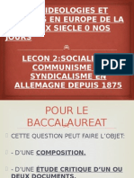 Socialisme, Communisme Ey Syndicalisme en Allemagne Depuis 1875