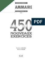 450 nouveaux exercices de grammaire - Niveau Avancé