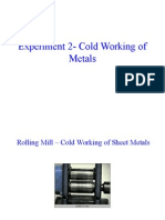 Lab - Cold Working of Metals
