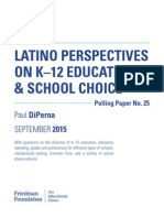Latino Perspectives Report on Education