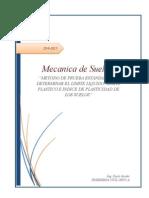 Metodo de Prueba Estandar para definir el limite liquido y limite plastico de un material