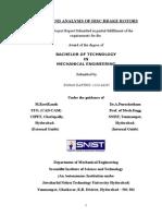 Design and Analysis of Disc Brake Rotors