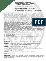 ARTE+ARQUITECTURA CURSO-TALLER JLChacon.def